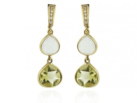 barbara lemoncitrineearringsgold lemon collections bar by tagged earrings citrine cieslicki earring triple