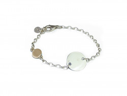 Silver bracelet with 925mm plate and 750mm gold plate