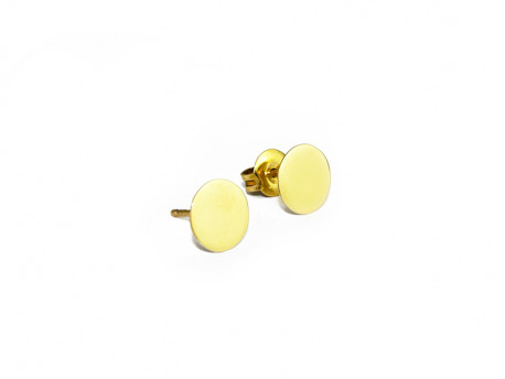 Pendiente oro amarillo de 750mm, superficie lisa, pulida.