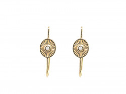 750mm yellow gold earrings with natural brilliants of 0.02cts each.