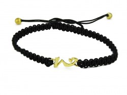 "Macrame bracelet with calligraphy Kanji symbol. ""KOKORO"""
